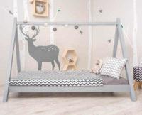 Šedá dětská Montessori postel GROSI