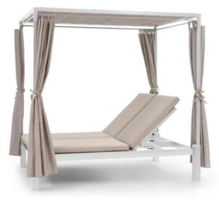 Venkovní zahradní postel včetně altánku