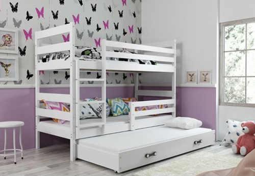 Dětská patrová postel s výsuvnou postelí a volbou barevné varianty