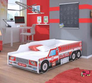 Dětská postel v originálním provedení hasičského auta