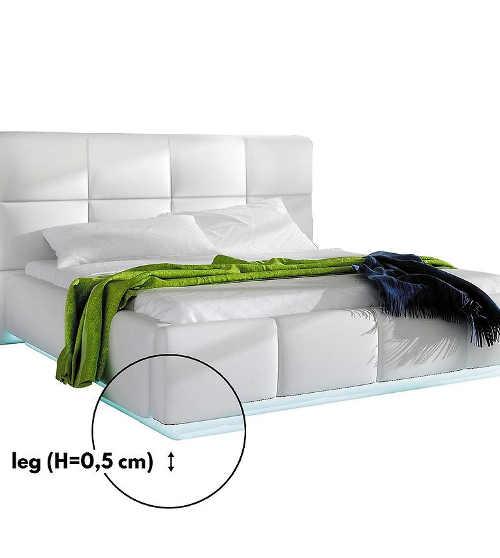 Manželská postel z eko kůže v moderním designu