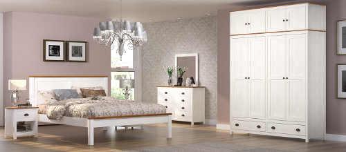 Provence ložnice v bílém lakovaném provedení