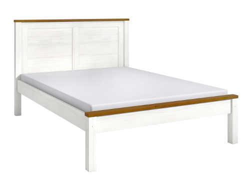 Bílá lakovaná borovicová postel TOPAZIO 140 x 200 cm