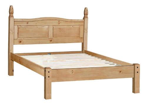 Dřevěná borovicová postel šířka 140 cm