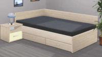 Dřevěná manželská postel do rohu RENÁTA 160x200 cm