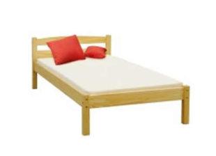 Lakovaná jednolůžková postel vyrobená ze smrkového masivu