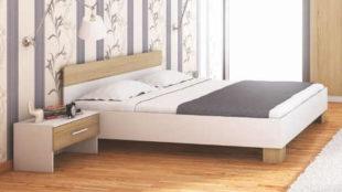 Manželská postel PURIO s ložnou plochou 160 × 200