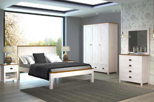 Nábytek do bílé romantické ložnice
