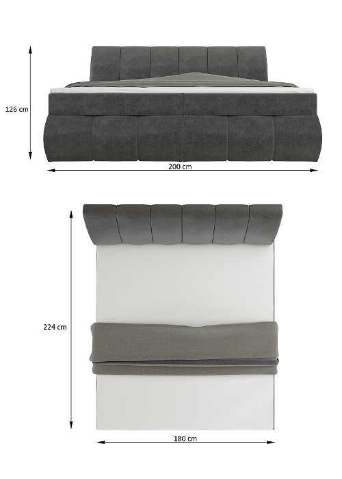 postel s roštem i matrací pro dva