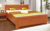 Zvýšená masivní postel pro seniory sleva