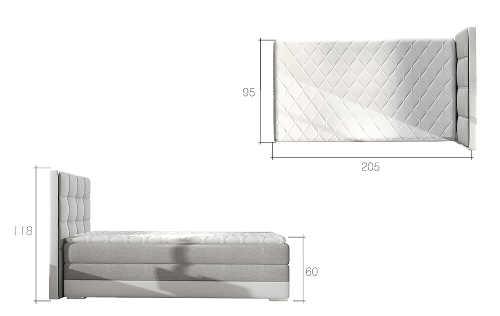 Čalouněná moderní a praktická postel pro jednoho
