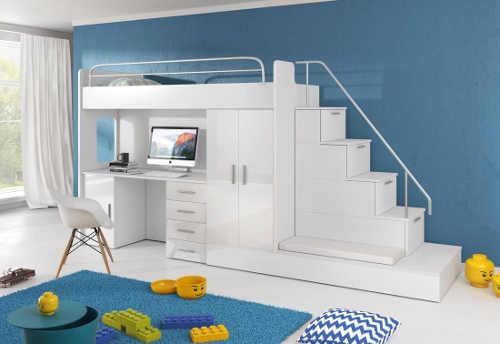 Dětská patrová postel součástí praktického vybavení do pokoje