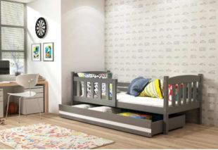 Dětská postel se zábranou a úložným prostorem pro holky i kluky