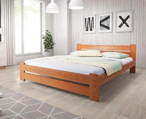 Dvoulůžková postel z kvalitního a odolného materiálu