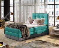 Jednolůžková postel 90x200 cm s matrací, roštem i úložným prostorem