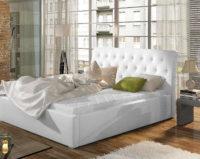 Luxusní čalouněná manželská postel 180x200 cm s roštem