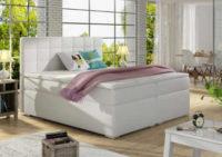 Manželská postel v minimalistickém stylu s matrací a roštem