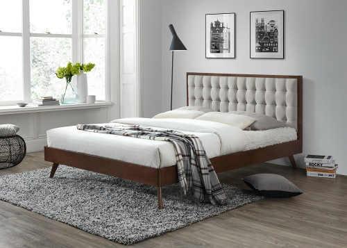 Moderní manželská postel 160x200 cm v minimalistickém designu