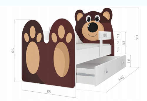 Postel pro děti s úložným prostorem