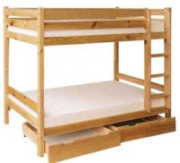 Praktická patrová postel 90x200 cm pro 2 za výhodnou cenu