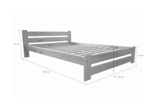 Praktická postel pro dva z masivu