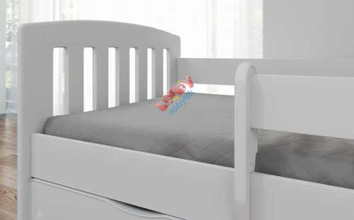 Bezpečná dětská postel bílá barva