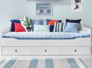 Dětská postel 90x200 cm se třemi úložnými zásuvkami