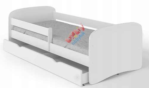 Jednoduchá bílá dětská postel s úložným prostorem
