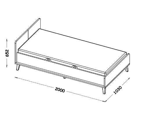 jednolůžková postel s úložným prostorem
