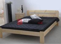 Dvoulůžková postel z masivu s roštem v minimalistickém designu