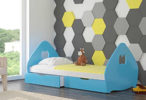 Moderní dětská postel v mnoha barvách