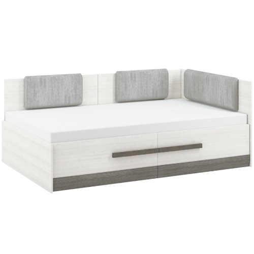 Praktická postel skýtající komfort a praktický úložný prostor