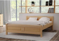 Vyvýšená postel z masivu v různém dekoru a rozměru
