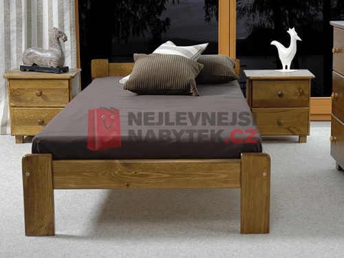 jednolůžková postel z masivu borovice