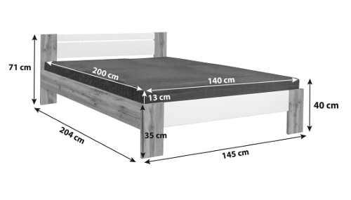 kvalitní dvoulůžková postel v nadčasovém provedení