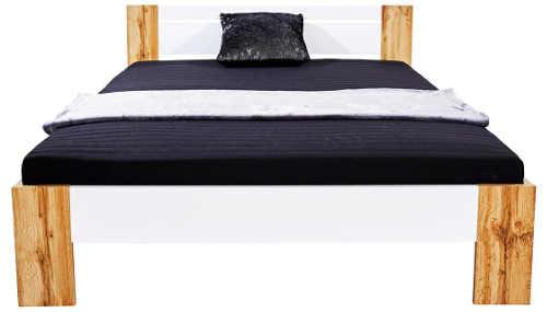 moderní futonová postel s matrací a roštem