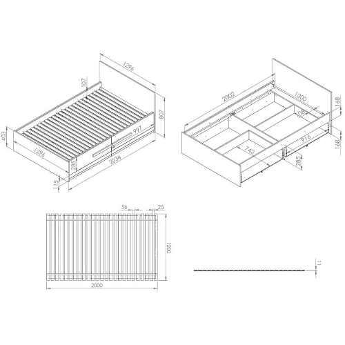 moderní postel vhodná i do malého prostoru