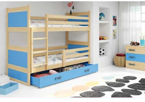 patrová postel do dětského pokoje se zábranou