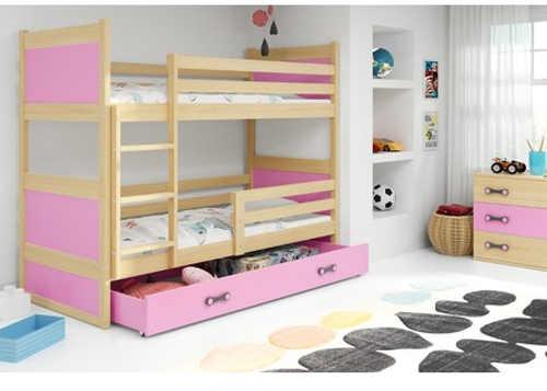 patrová postel s bezpečnostní zábranou