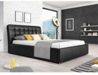Čalouněná manželská postel v nadčasovém designu