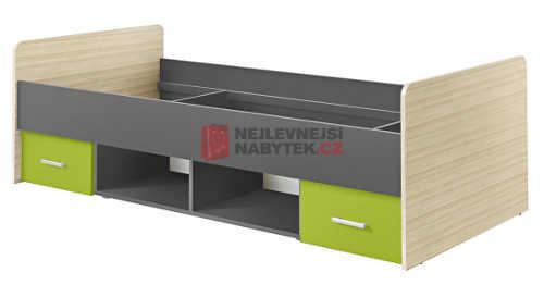 Dětská postel s praktickým úložným místem a zásuvkami