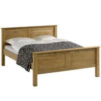 Dvoulůžková postel 160x200 cm z masivu - borovice