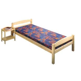 Jednolůžková postel 90x200 cm ze smrkového dřeva