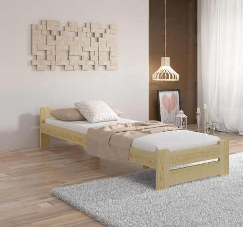 Kvalitní postel z masivu s roštem s výběrem dekoru a spací plochy