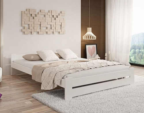 kvalitní moderní postel z masivu