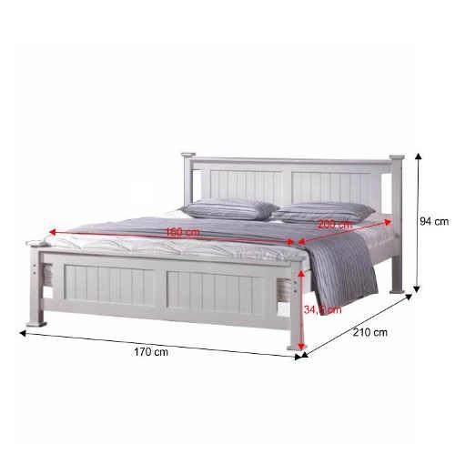 moderní manželská postel v bílém provedení