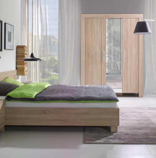moderní manželská postel z lamina dekor dub sonoma
