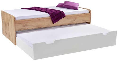 moderní postel s praktickým výsuvným lůžkem