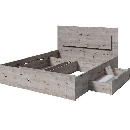 praktická dvoulůžková postel v moderní designu
