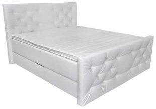 Čalouněná manželská postel s úložným prostorem v luxusním provedení